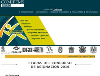 preregistro2016.comipems.org.mx screenshot