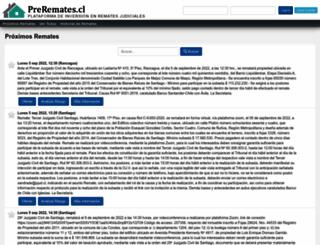preremates.cl screenshot