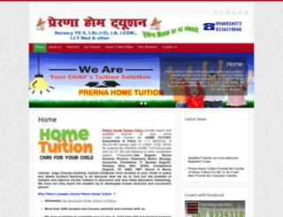 prernahometuition.com screenshot