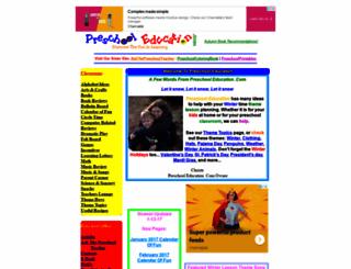 preschooleducation.com screenshot