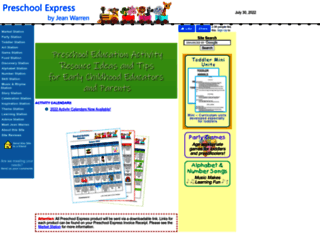 preschoolexpress.com screenshot