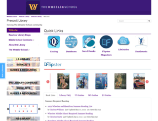 prescottlibrary.wheelerschool.org screenshot