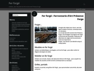 presence-forge.fr screenshot