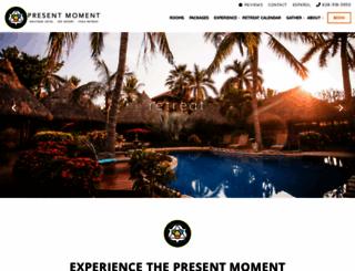 presentmomentretreat.com screenshot