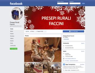 presepiruralifaccini.it screenshot