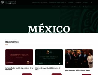 presidencia.gob.mx screenshot