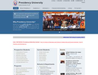 presidency.edu.bd screenshot