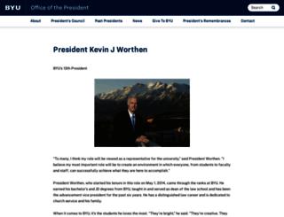 president.byu.edu screenshot