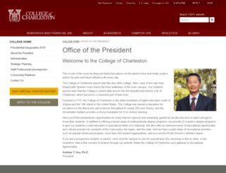 president.cofc.edu screenshot