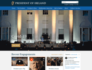 president.ie screenshot