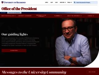 president.richmond.edu screenshot
