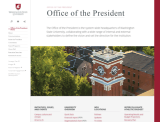 president.wsu.edu screenshot