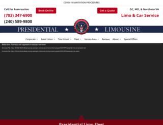 presidential-limo.com screenshot
