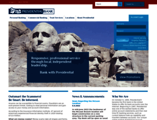 presidential.com screenshot