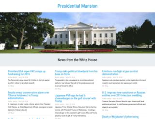 presidentialmansion.com screenshot