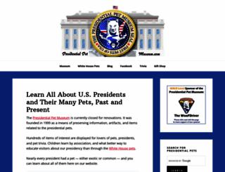presidentialpetmuseum.com screenshot