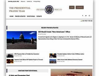 presidentialprayerteam.org screenshot