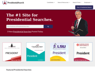 presidentsearch.com screenshot