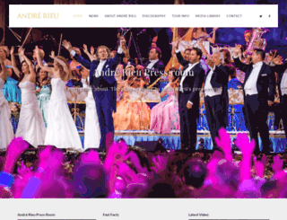 press.andrerieu.com screenshot