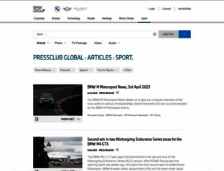 press.bmwgroup-sport.com screenshot
