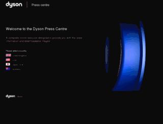 press.dyson.com screenshot