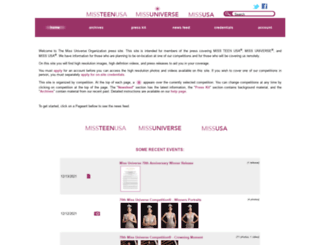 press.missuniverse.com screenshot