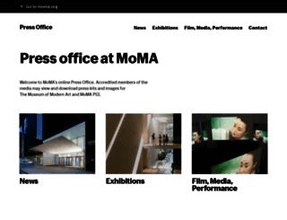 press.moma.org screenshot