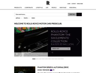 press.rolls-roycemotorcars.com screenshot