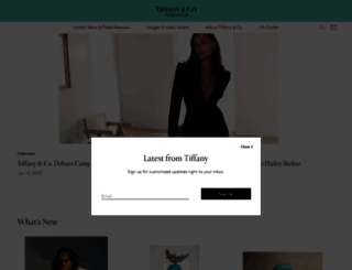 press.tiffany.com screenshot