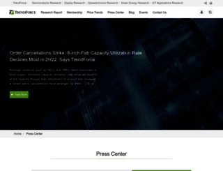 press.trendforce.com screenshot