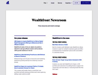 press.wealthfront.com screenshot