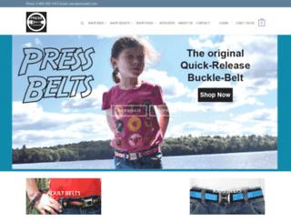 pressbelts.com screenshot