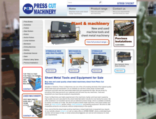 presscutmachinery.com screenshot