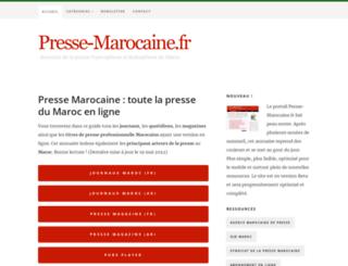 presse-marocaine.fr screenshot