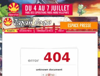presse.japan-expo.com screenshot