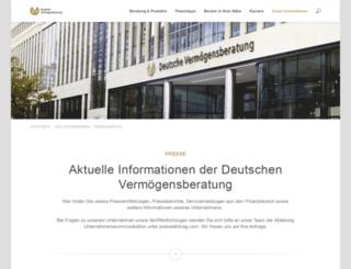 presseberichte.dvag.com screenshot