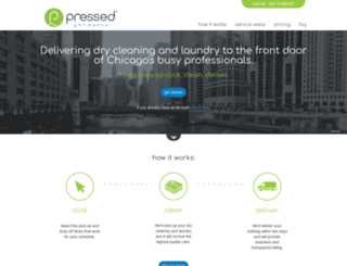 pressedgarments.com screenshot