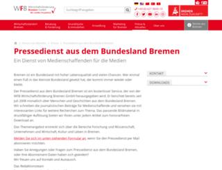 pressedienst.bremen.de screenshot