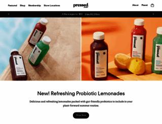pressedjuicery.com screenshot