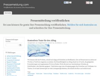 pressemeldung.com screenshot