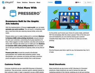 pressero.com screenshot
