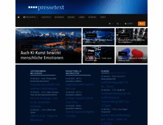pressetext.com screenshot
