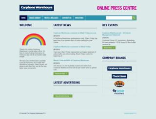 pressoffice.carphonewarehouse.com screenshot