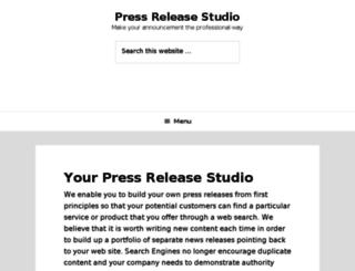 pressreleasestudio.com screenshot