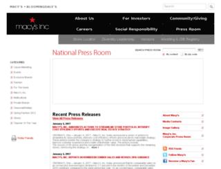 pressroom-stage.macysinc.com screenshot