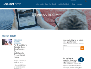 pressroom.forrent.com screenshot