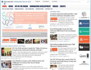pressroom.ipc-undp.org screenshot