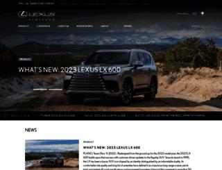 pressroom.lexus.com screenshot