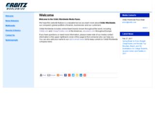 pressroom.orbitz.com screenshot