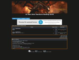 pressure-guild.forumotion.eu screenshot